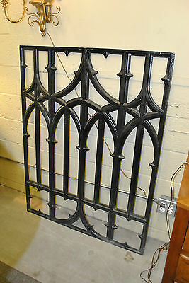 Antique Cast Iron Gothic Revival Arts and Crafts Grate