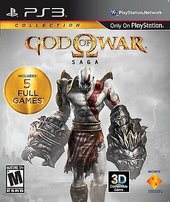 BRAND NEW FACTORY SEALED GOD OF WAR SAGA HD COLLECTION (SONY PS3, 2012)