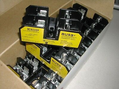 Bussmann Fuse Holders Box Lot Of 8 BC6032P NEW IN BOX B21