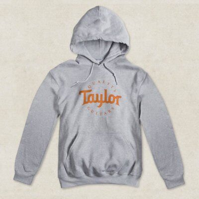 Taylor Guitars Hoody Sweatshirt In Sport Grey, Various Sizes