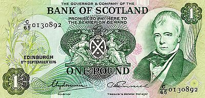 The Bank of SCOTLAND 1976 1 Pound banknote p-111c circulated