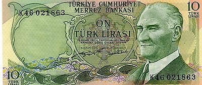 TURKEY Europe 10 Lira UNC 1966 p-180