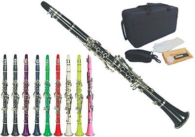 NEW CONCERT BAND Bb CLARINET -APPROVED+WARRANTY-ALL COLOR AVAILABLE