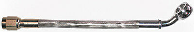 "AN-3  12"" long, stainless steel braid hose, ST X 45ø banjo 3/8""-10M  CC"