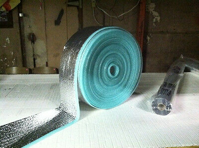 """Reflective Foam Core 1/4 inch thick HVAC Pipe Air Duct Wrap (3"""" x 250')"""