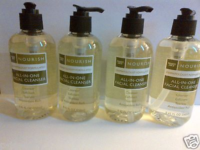 Four 4 Bottles Trader Joe's Nourish All-In-One Facial Cleansers Fragrance Free
