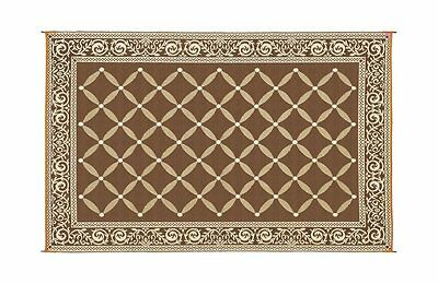 Reversible 6 x  9 ft. Mat Rug Camping RV Patio Deck Outdoor Weather Durable Home
