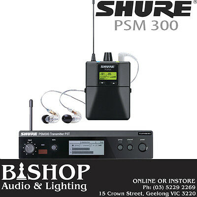 Shure PSM300 Stereo In-Ear Personal Monitor Wireless System. PSM 300 with SE215