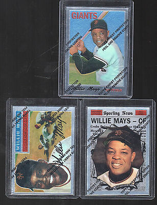 1996 Topps Willie Mays Chrome Reprint # 24 #8 #15 all 3