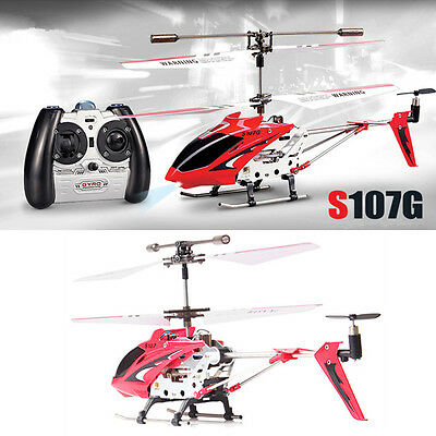 Syma S107G 3.5 Channel 3CH Mini Metal Remote Control RC Helicopter Genuine Red