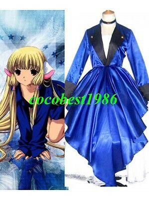 Chobits Chii Blue Dress Cosplay Costume any size