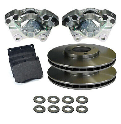Ford Capri Mk2 Mk3 Pair Front Brake Calipers Pads, Pins & Vented Discs Bbk0043B