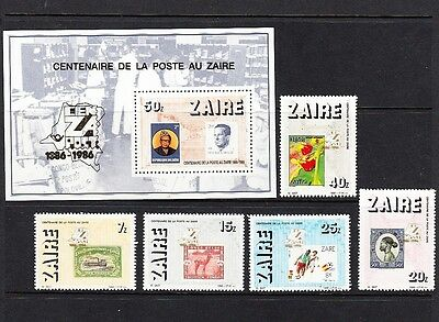 Zaire 1986 Centenary of postage stamps scott # 1220-5