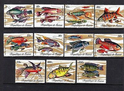 FISH set of 11 Republic Guinea Scott # 570-81 NICE and COLOURFUL