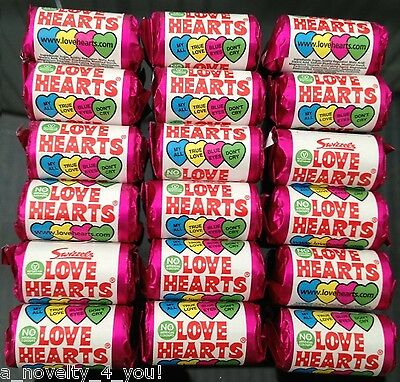 Mini Love Heart Rolls Party Bag Fillers Retro Hearts Wedding Favours Sweet Favor