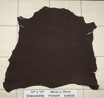 Soft sheep skin suede Velvet nap Clothing Furnishing BARKERS LEATHER H343 PEAT