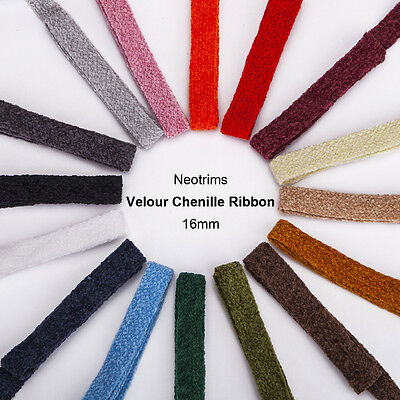 Neotrim Pure Chenille Yarn Ribbon Trimming,Texture Velour Handle,Apparel,Curtain