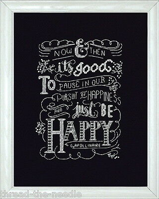 Design Works Crafts Just Be Happy 2886 Counted Cross Stitch Picture Kit