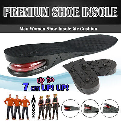 3/5/7cm Men Air Cushion Heel Shoe Insole Insert Increase Taller Height Lift