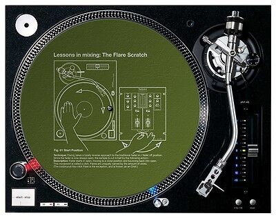 New DMC Lessons in Mixing #1 Slipmats (pair)  OFFICIAL LICENSED MERCHANDISE