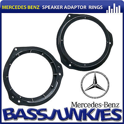 "Mercedes Benz E Class W212 2009 On 6.5"" Front Door Car Speaker Adaptor Rings"