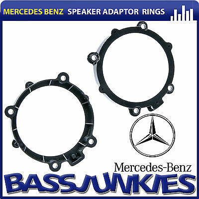 "Mercedes Benz Sprinter W906 2006 13cm 5.25"" Front Door Van Speaker Adaptor Rings"