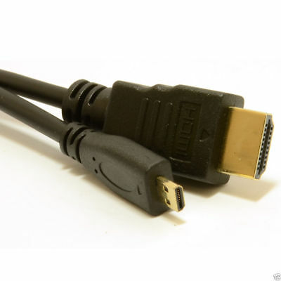 0.5m Micro D HDMI v1.4 High Speed Cable to HDMI for Tablets & Cameras [007394]