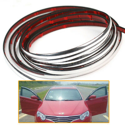 Silver 3m 6mm Car Chrome Self-Adhesive Styling Moulding Trim Interior Strip Hot