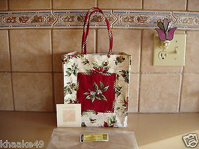 LONGABERGER HOLIDAY BOTANICAL SMALL TOTE * POINSETTIES, BERRIES, & LEAVES * NEW