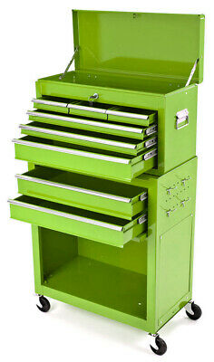 Mechanics  Heavy  Duty  Tool  Box  Chest  And  Roller  Cabinet  Green