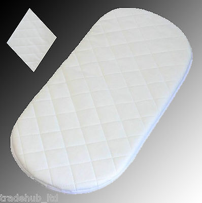 Baby Pram Moses Basket Mattress Waterproof Made in England 28 sizes Top Quality