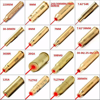 Red Dot Laser Cartridge Bore Sighter Thread Arrow Laser Sighting Tools 16 Styles