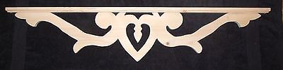 "Victorian Wood Gingerbread { 43"" x 9""} Drop Pendant Bracket #37P ~ by PLD"