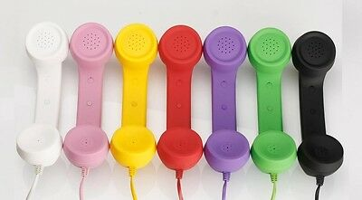 RETRO TELEPHONE HANDSET PHONE SAMSUNG iPHONE 3G 3Gs 4G VOLUME CONTROL MOBILE15cm