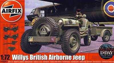 Airfix Willys Jeep Trailer & 6PDR Gun Modell-Bausatz 1:72 Normandy Belgium 1944