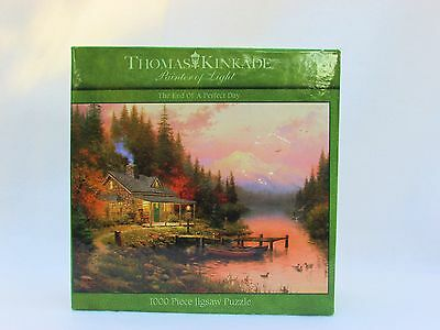 CEACO 1000 PC JIGSAW PUZZLE THE END OF A PERFECT DAY THOMAS KINKADE ART New