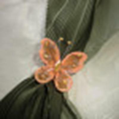 SCARF CLIP, PIN ,Beautiful orange butterfly, HANDMADE