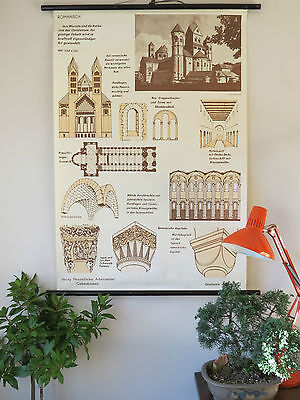 Vintage Pull Down School History Of Architecture Styles Chart No 3 Roman Ii
