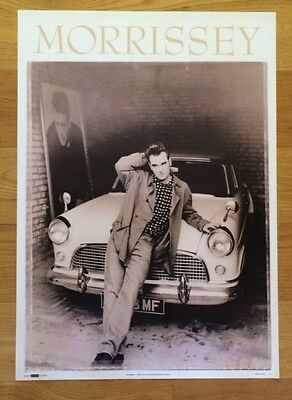 MORRISSEY POSTER  THE SMITHS 25 X 35 Leaning On A Car 1991 OOP