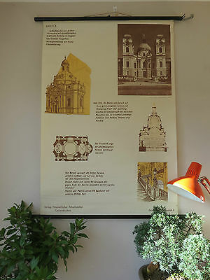 Vintage Pull Down School Chart  History Of Architecture Styles No 6 Baroque