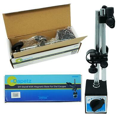DTI Stand With Magnetic Base For Dial Gauges Strong Magnet 60kg Pull 175mm