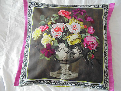 Designers Guild 100% Cotton Fabric Cushion Cover Oranamental Garden