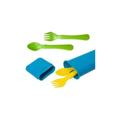 NEW 5-piece Infant Utensil Set with Travel Case Assorted Colors