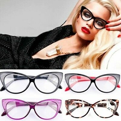 Retro Sexy Women Eyeglasses Frame Fashion Cat Eye Clear Lens ladies Eye Glasses