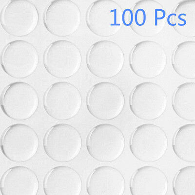 "100Pcs 1"" 3D Round Bottle Cap Stickers Crystal Clear Epoxy Adhesive Circles"
