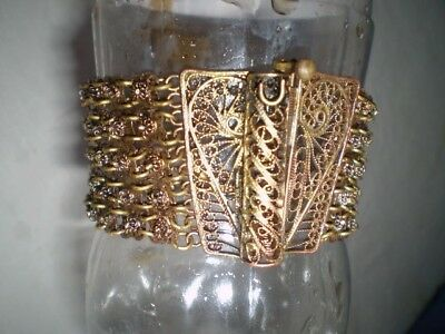 Old  RARE HANDMADE-ANTIQUE -BRACELET  filigree Handmade Bronze
