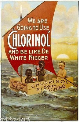 Chlorinol Black Americana Advertising Refrigerator Magnet NEW!