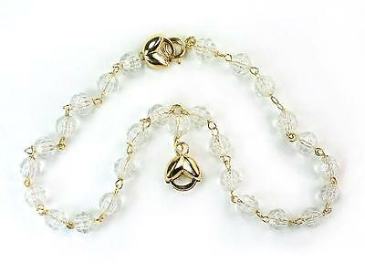 plus inch charms and anklet long bracelet gold of size pearl filled