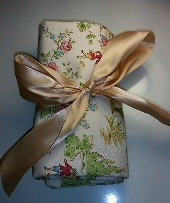 Handmade Baby Diaper Changing Roll Pad Mat Whimsical Toile & Microsuede