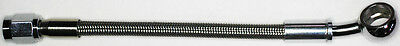 "AN-3   8"" long, stainless steel braid hose, ST X 20ø banjo 7/16""  NC"